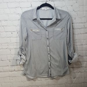 c5035852 Eden & Olivia button down blouse top size small